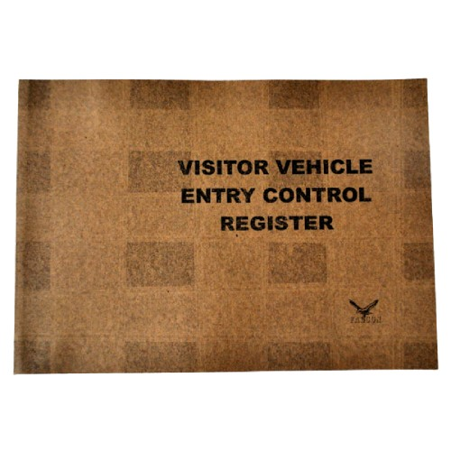 Visitors Vehicle Entry Control Register Cover