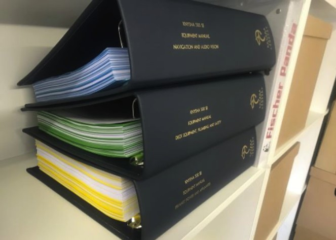 Leather Bound Binders with Gold Foiling